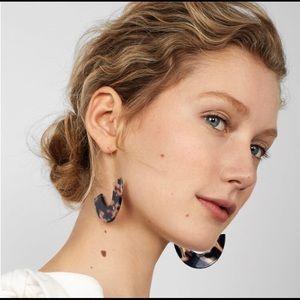 Tortoise shell & brass earrings-BEST SELLER 🐚